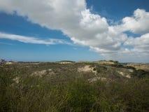 在沙丘的云堤 库存图片