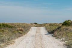在沙丘的土路劳斯 免版税库存照片