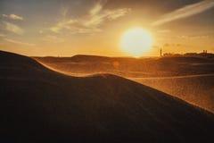 在沙丘的日落 图库摄影