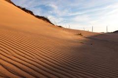 在沙丘的波纹 库存照片
