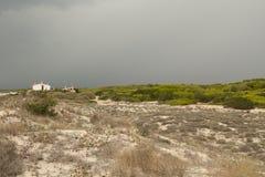 在沙丘的风暴 库存照片