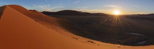 在沙丘45的日落 免版税库存图片