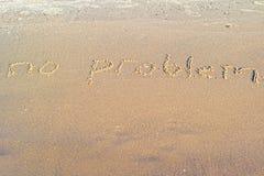 在沙子写的没有ptoblem 图库摄影