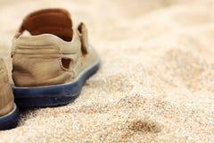 在沙子的启动 免版税库存图片