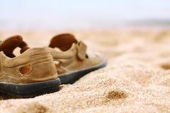 在沙子的启动 库存图片