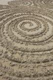 在沙子的圈子 免版税库存照片