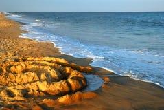在沙子的圈子 库存照片