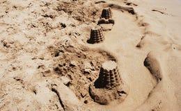 在沙子的塔 免版税图库摄影