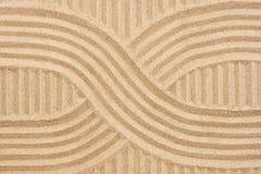 在沙子的抽象 免版税库存图片