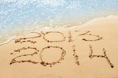 在沙子的数字 免版税库存照片