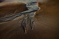 在沙子的标记 免版税库存照片