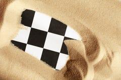 在沙子的棋 库存图片