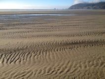 在沙子的波纹 库存照片