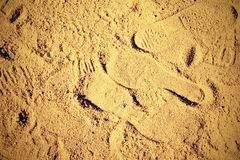 在沙子的版本记录 免版税库存照片