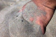 在沙子的现有量 免版税库存照片