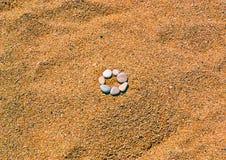 在沙子的艺术 库存照片