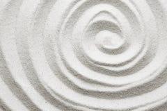 在沙子的螺旋 免版税库存照片