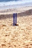 在沙子的蟋蟀小门 免版税库存图片