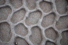 在沙子的轮胎样式 免版税图库摄影