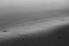 在沙子的通知 库存图片