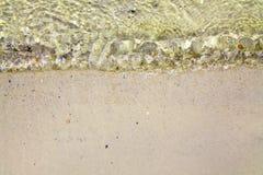 在沙子的通知 免版税库存图片