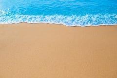 在沙子的通知 免版税库存照片