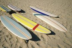 在沙子的水橇板 免版税库存图片