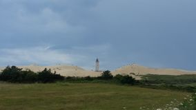 在沙子的Rubjerg knude Nordjylland丹麦 图库摄影