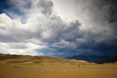 在沙子雷暴的沙丘 免版税库存照片