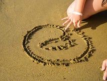 在沙子 免版税库存图片