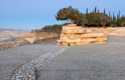 在沙漠内盖夫,以色列小山的早晨视图  免版税库存照片