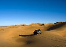 在沙漠撒哈拉大沙漠间 库存照片