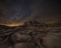 在沙漠的夜 免版税图库摄影