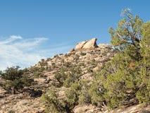 在沙漠风景的岩石海角 库存照片