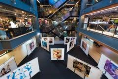 在沙炎中心内部,曼谷市,泰国的画展 库存照片