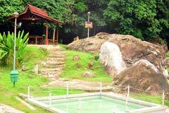 在沙巴的熟读的温泉,马来西亚 库存照片
