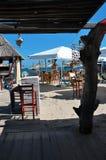 在沙滩的酒吧 图库摄影