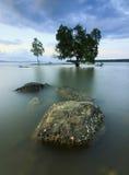 在沙巴,婆罗洲的海景 免版税库存图片