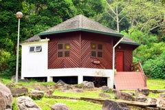 在沙巴,马来西亚的熟读的温泉村庄 免版税库存图片