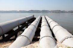 在河下水道系统 免版税库存图片