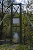 在河伊斯克尔在秋天,伊斯克尔污蔑, Lakatnik的垂曲线桥梁 免版税库存图片
