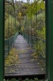 在河伊斯克尔在秋天,伊斯克尔污蔑, Lakatnik的垂曲线桥梁 库存照片