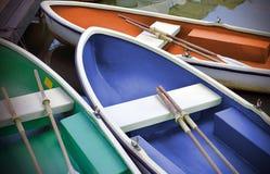 在河划艇的划艇在公园 库存图片