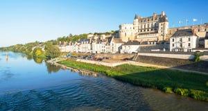 在河卢瓦尔河,法国的大别墅d'Amboise 免版税图库摄影