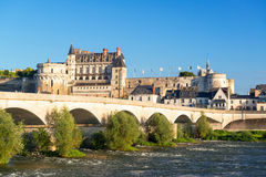 在河卢瓦尔河,法国的大别墅d'Amboise 库存图片
