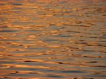 在河反映的日落 库存照片