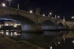 在河台伯河的桥梁 库存图片