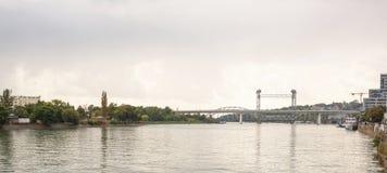 在河唐的两座桥梁在顿河畔罗斯托夫 免版税库存图片