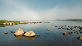 在河堪察加的早晨 免版税库存照片