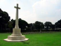 在河战争附近的墓地kwai 库存照片